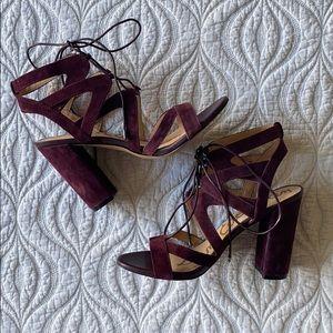 SAM EDELMAN Yardley Lace Up Heels